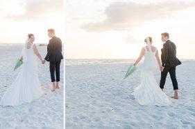 verliebtes Brautpaar am Meer. Anna-Maria-Island