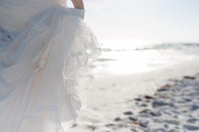 Brautkleid am Meer, Details mit Spitze