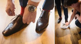 Schuhe des Bräutigams.