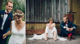glückliches Brautpaar.
