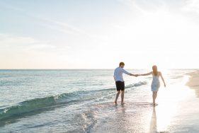 Paar romantisch in Florida am Meer