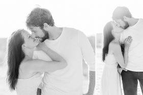 Verliebtes Paar. Schwarz-weiß-Foto