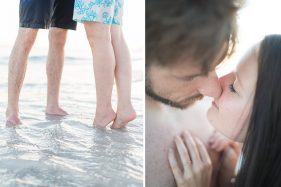 verliebtes Paar am Meer in Florida.