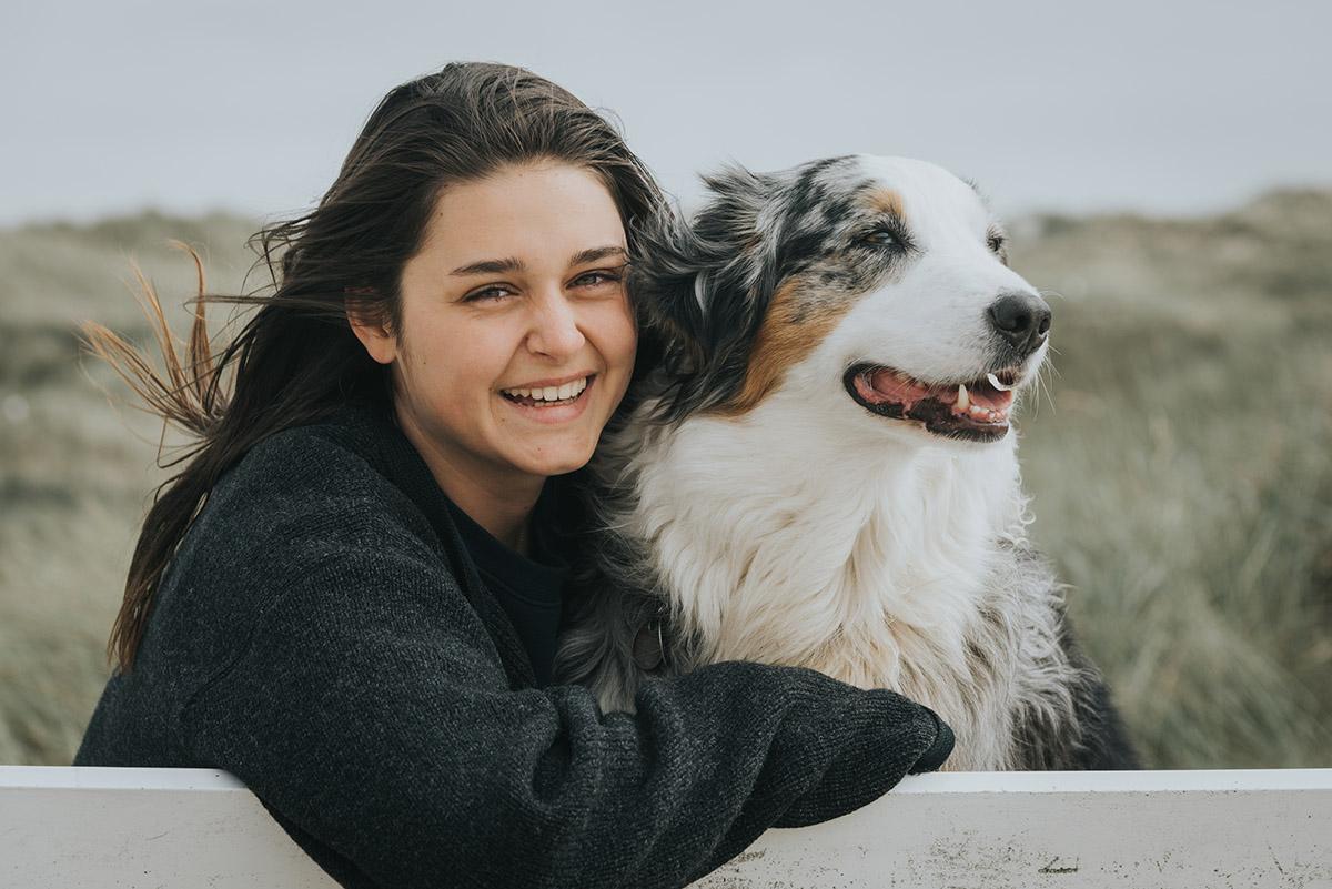 Hund frau und Texas: Frau