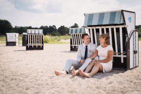 Filitz-Fotografie Hochzeit Travemuende Priwall am Strandkorb
